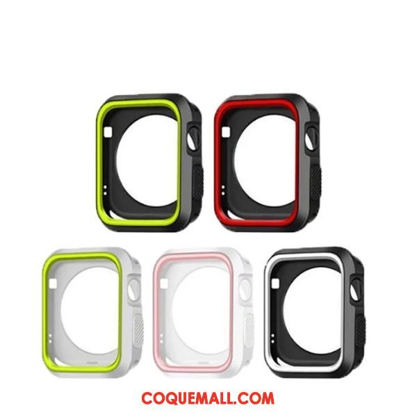 Étui Apple Watch Series 4 Fluide Doux Noir, Coque Apple Watch Series 4