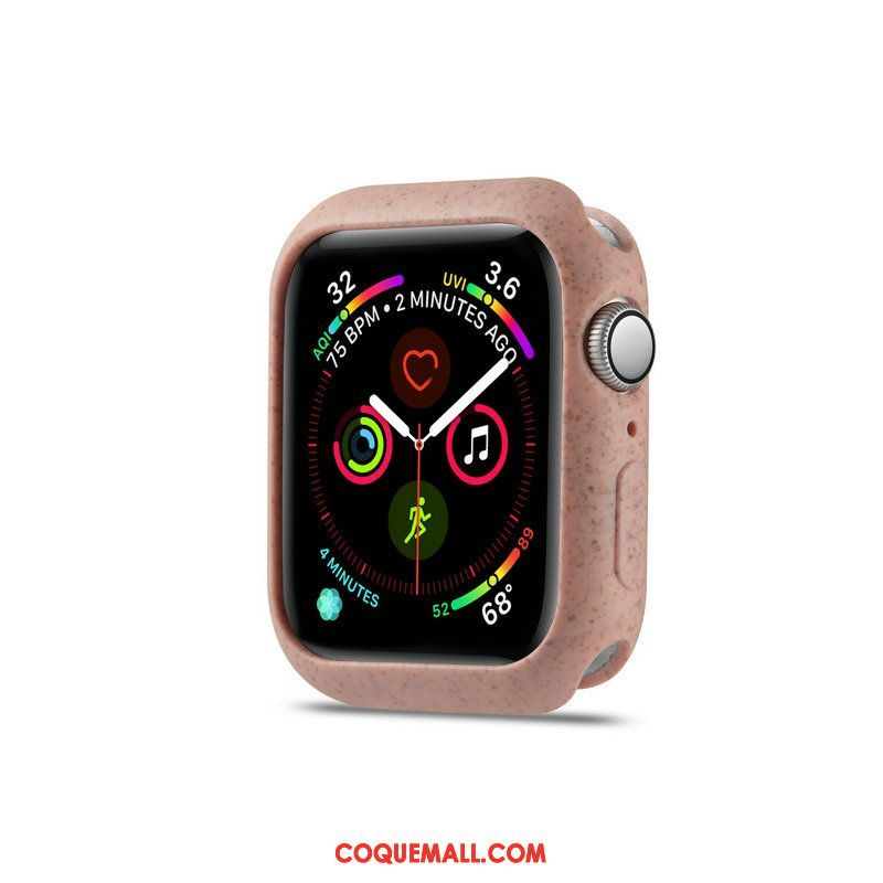 Étui Apple Watch Series 4 Fluide Doux Protection Dragon, Coque Apple Watch Series 4 Rose Délavé En Daim