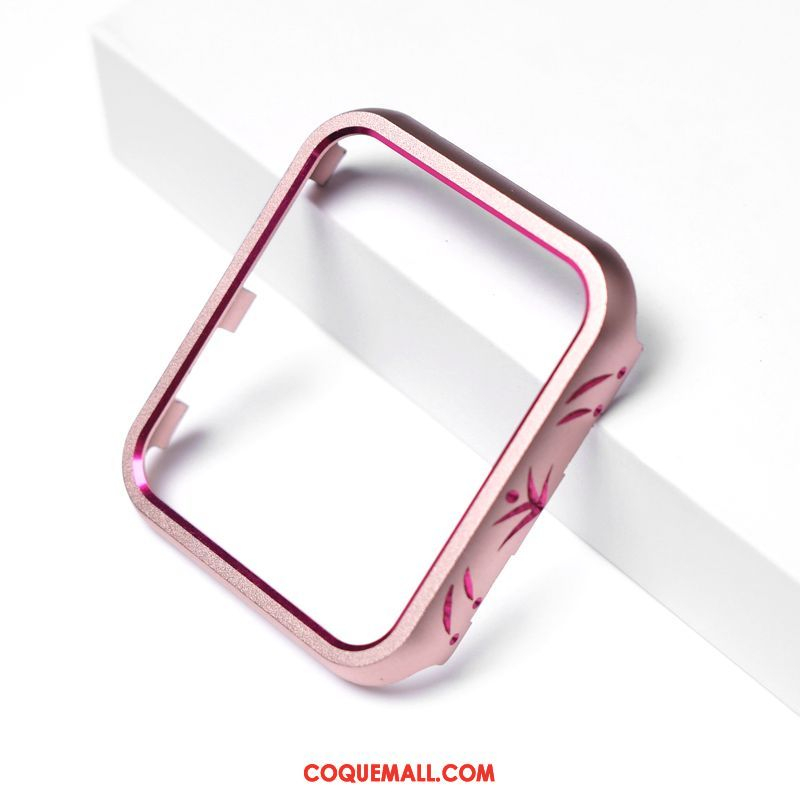 Étui Apple Watch Series 4 Incruster Strass Rose Protection, Coque Apple Watch Series 4 Métal Incassable