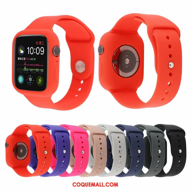 Étui Apple Watch Series 4 Protection Mode Nouveau, Coque Apple Watch Series 4 Sport Rouge