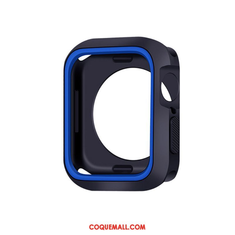 Étui Apple Watch Series 4 Silicone Protection Bleu, Coque Apple Watch Series 4 Fluide Doux