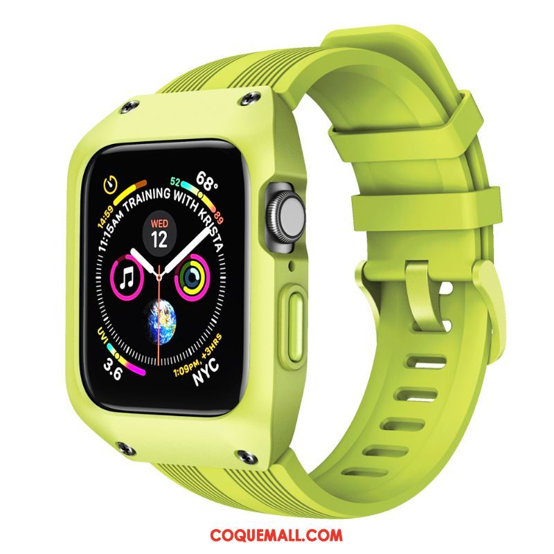 Étui Apple Watch Series 4 Sport Protection Vert, Coque Apple Watch Series 4 Incassable Créatif