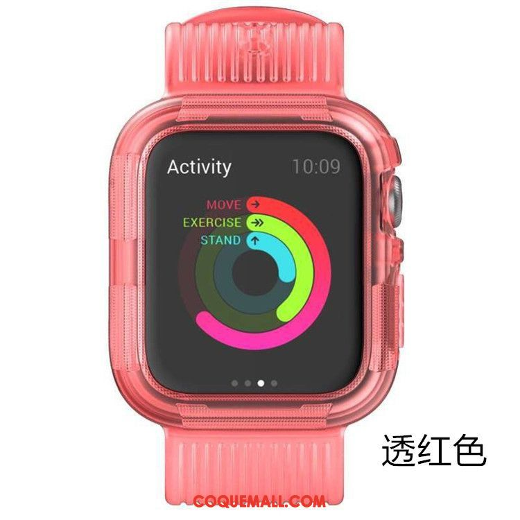 Étui Apple Watch Series 5 Incassable Protection Rose, Coque Apple Watch Series 5 Sport Armure