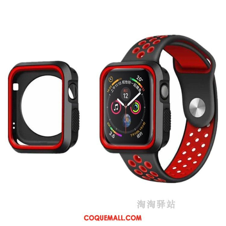 Étui Apple Watch Series 5 Incassable Silicone Sport, Coque Apple Watch Series 5 Respirant Fluide Doux