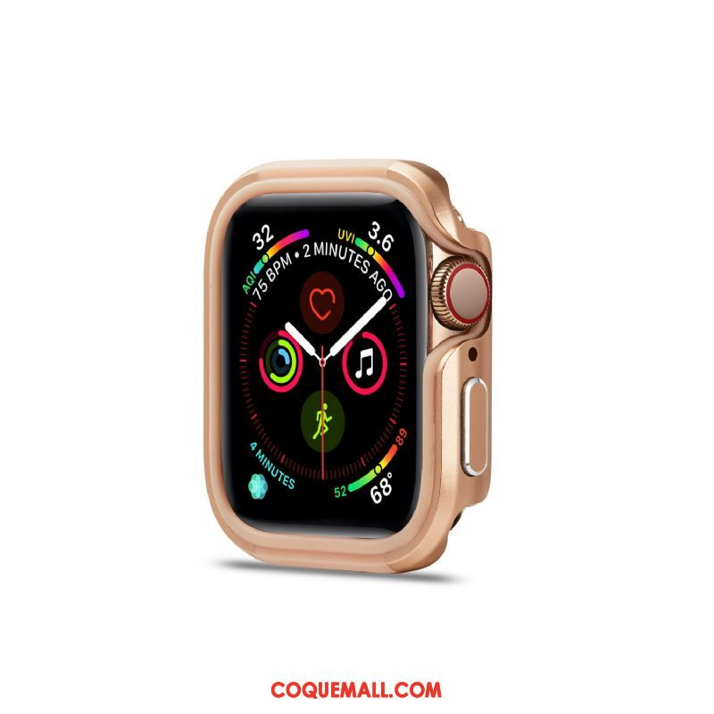 Étui Apple Watch Series 5 Métal Incassable Or, Coque Apple Watch Series 5 Border Alliage
