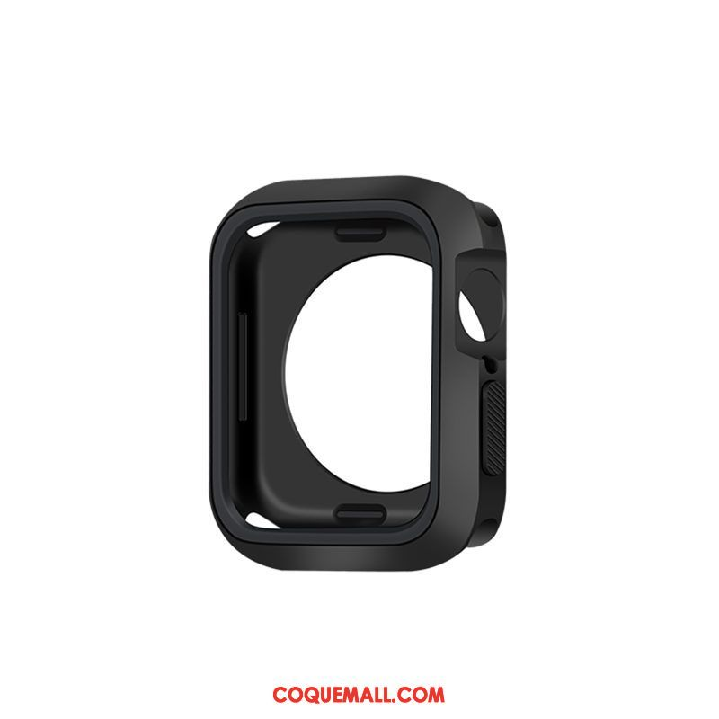 Étui Apple Watch Series 5 Personnalité Créatif Bicolore, Coque Apple Watch Series 5 Noir Incassable