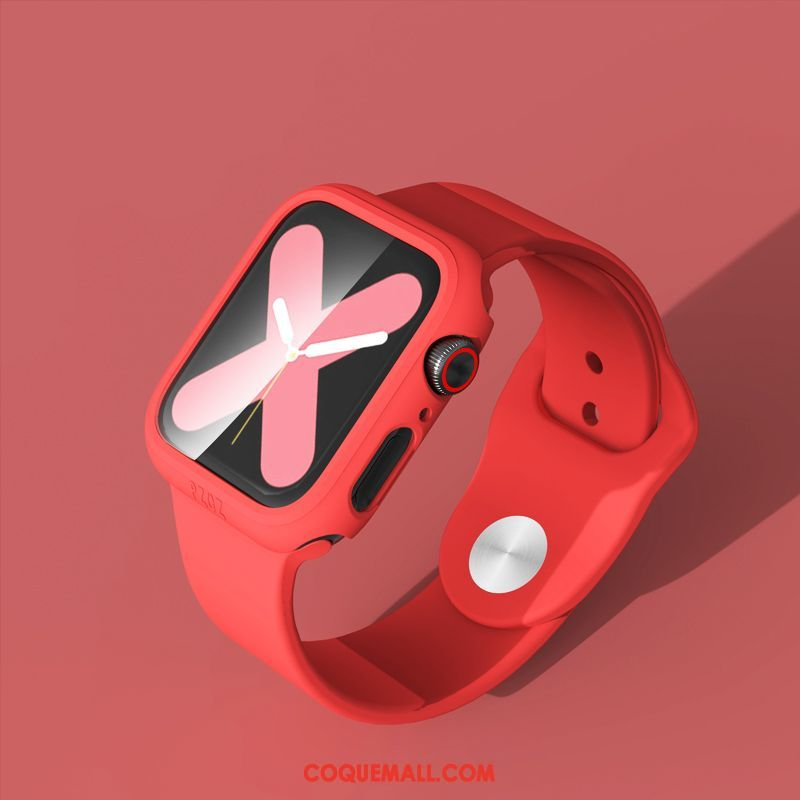 Étui Apple Watch Series 5 Personnalité Protection Sport, Coque Apple Watch Series 5 Rouge Tout Compris