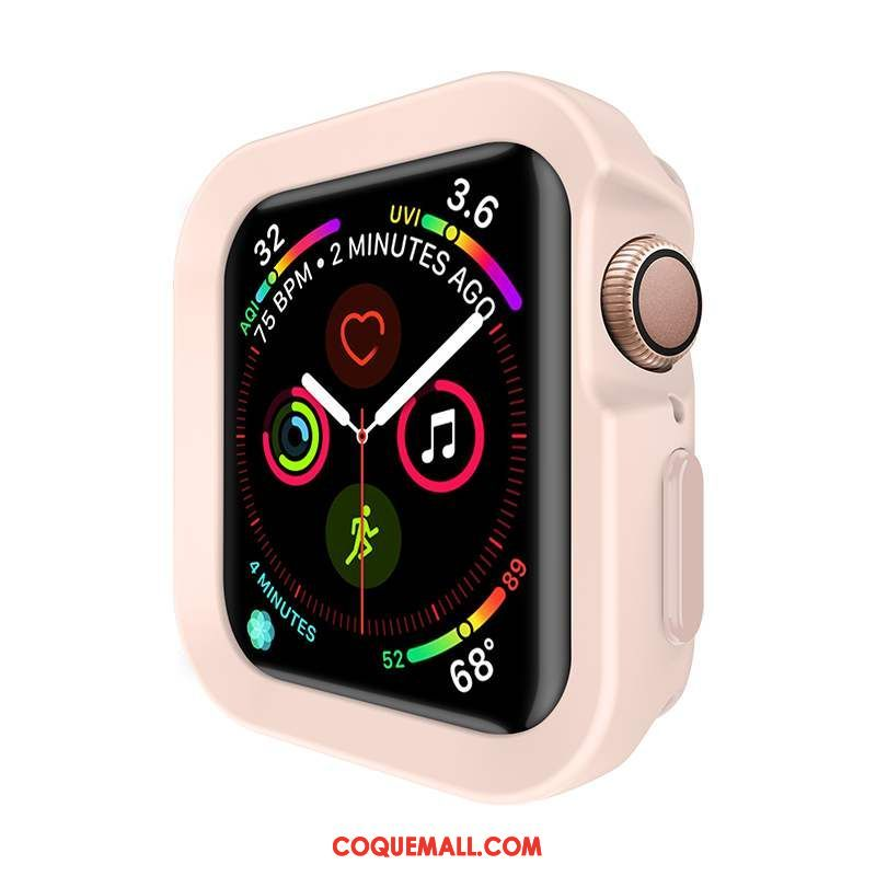 Étui Apple Watch Series 5 Protection Nouveau Rose, Coque Apple Watch Series 5 Incassable Légères