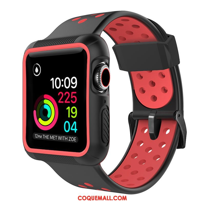 Étui Apple Watch Series 5 Protection Silicone Sport, Coque Apple Watch Series 5 Rouge