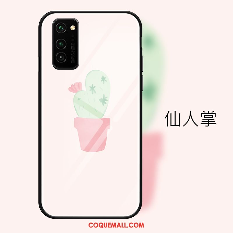 Étui Honor View30 Pro Verre Incassable Dessin Animé, Coque Honor View30 Pro Rose Clair