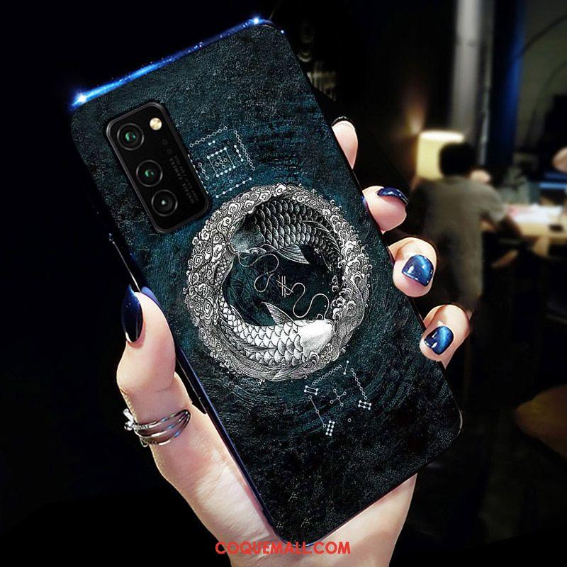 Étui Honor View30 Téléphone Portable Net Rouge Fluide Doux, Coque Honor View30 Noir Tout Compris
