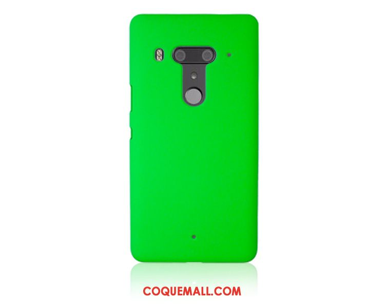 Étui Htc U12+ Délavé En Daim Vert Difficile, Coque Htc U12+ Simple Protection