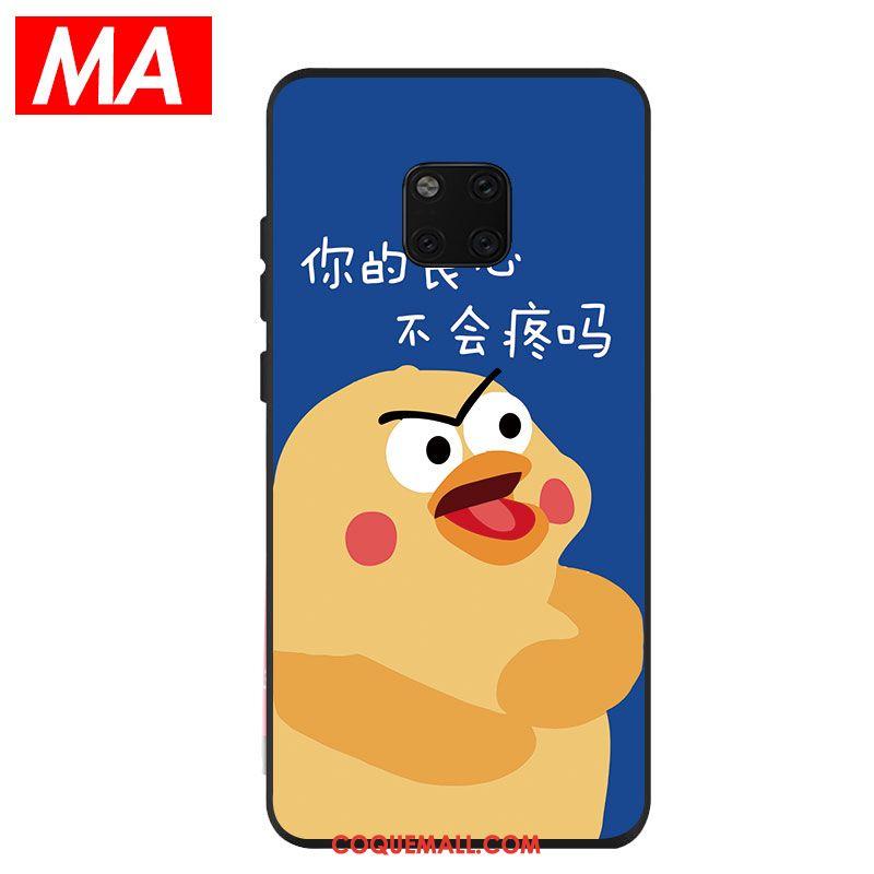 Étui Huawei Mate 20 Pro Protection Bleu Charmant, Coque Huawei Mate 20 Pro Fluide Doux Silicone