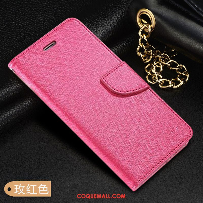 Étui Huawei Mate 20 Rose Incassable Rouge, Coque Huawei Mate 20 Simple Étui En Cuir
