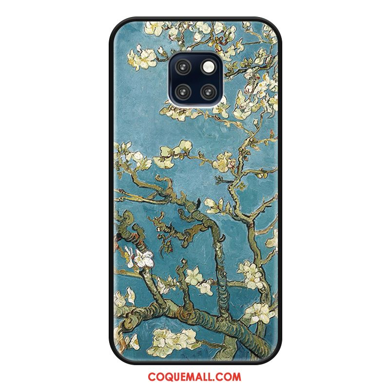 Étui Huawei Mate 20 Rs Blanc Protection Luxe, Coque Huawei Mate 20 Rs Bleu Tendance Beige Farbe