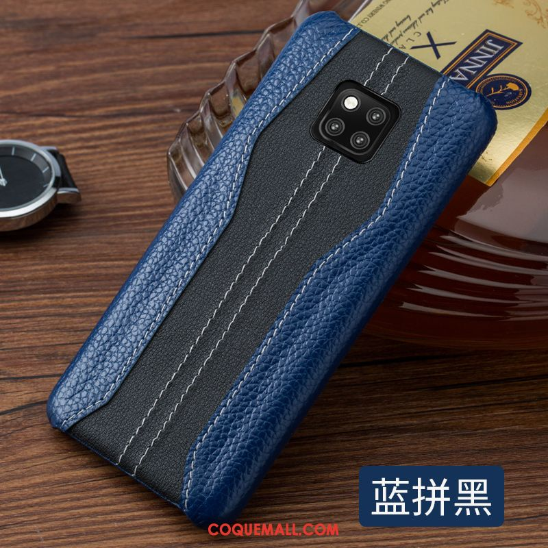 Étui Huawei Mate 20 Rs Personnalité Luxe Luxe, Coque Huawei Mate 20 Rs Simple Business Braun
