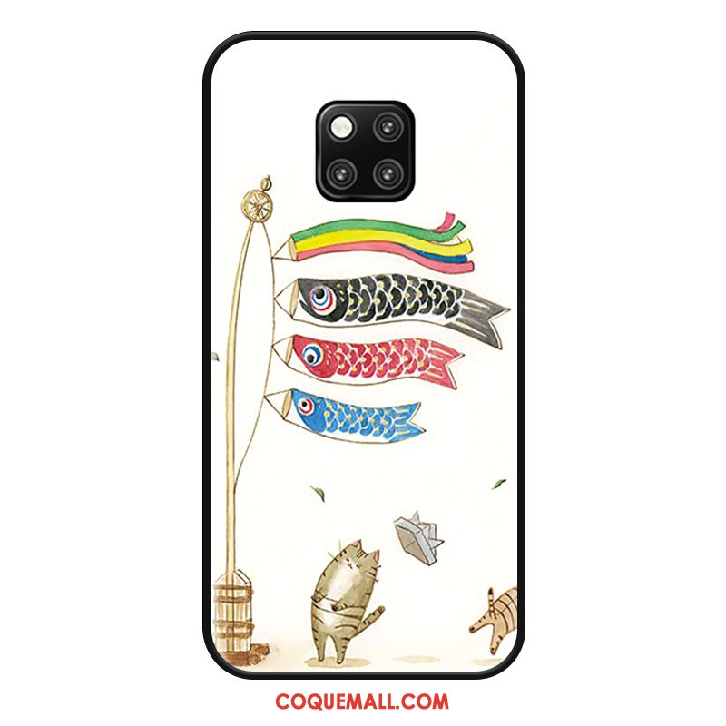 Étui Huawei Mate 20 Rs Squid Protection Fluide Doux, Coque Huawei Mate 20 Rs Personnalité Blanc