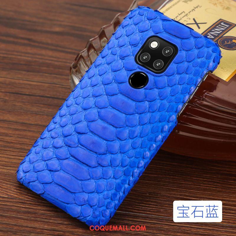Étui Huawei Mate 20 X Bleu Téléphone Portable Nouveau, Coque Huawei Mate 20 X Incassable Cuir Véritable
