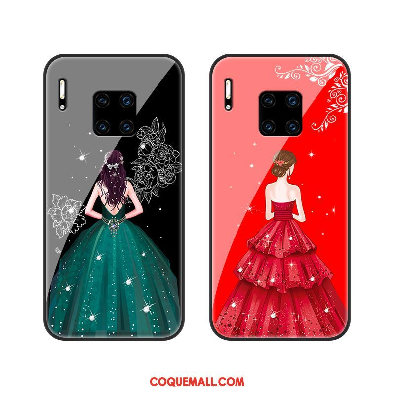 Étui Huawei Mate 30 Rs Yarn Protection Verre, Coque Huawei Mate 30 Rs Téléphone Portable Rouge
