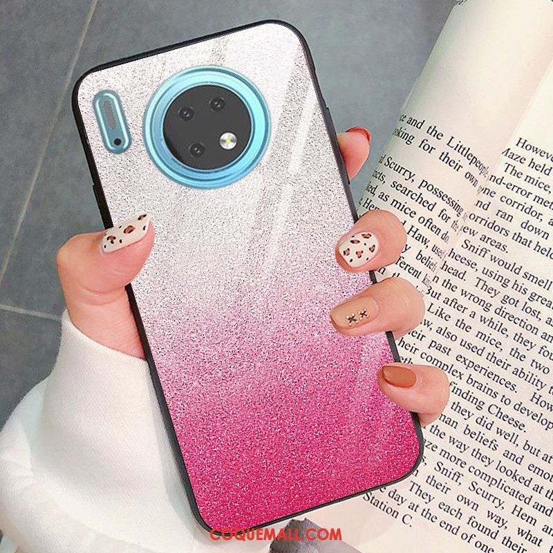 Étui Huawei Mate 30 Silicone Mode Modèle, Coque Huawei Mate 30 Rose Protection