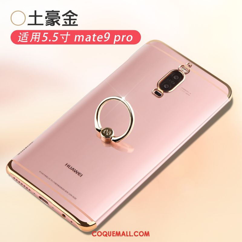 Étui Huawei Mate 9 Pro Or Incassable Simple, Coque Huawei Mate 9 Pro Protection Délavé En Daim
