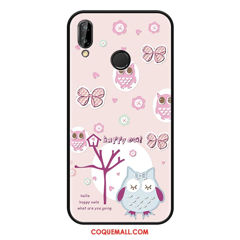 Étui Huawei Nova 3 Ornements Suspendus Charmant Incassable, Coque Huawei Nova 3 Silicone Rose