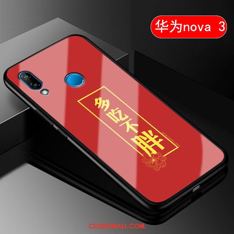 Étui Huawei Nova 3 Protection Tout Compris Style Chinois, Coque Huawei Nova 3 Amoureux Rouge