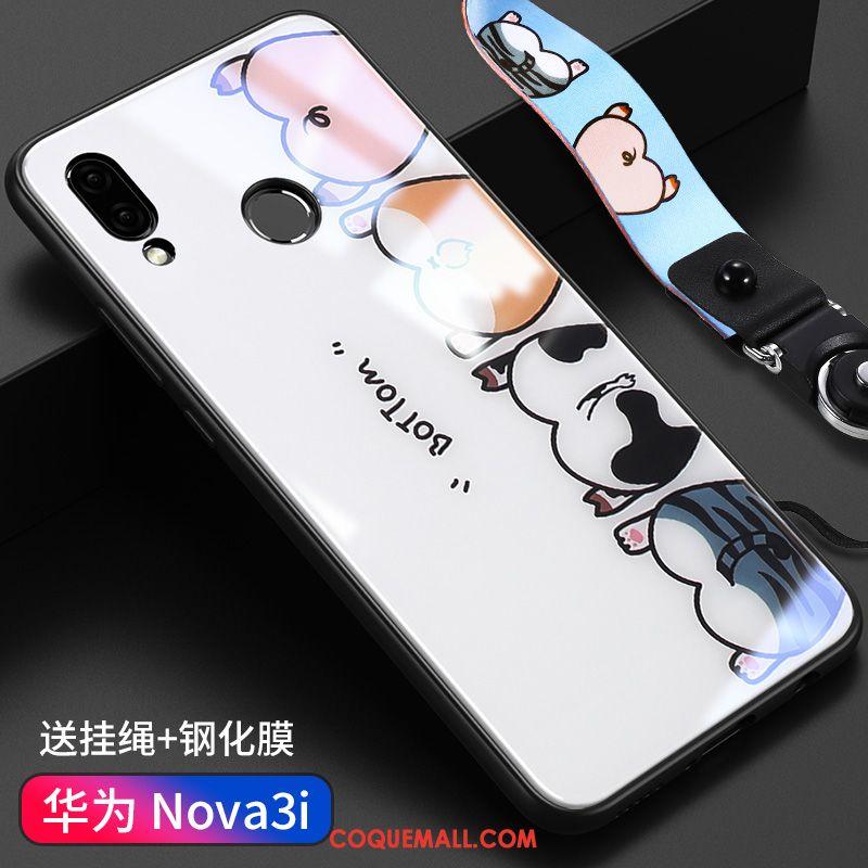 Étui Huawei Nova 3i Protection Personnalité Incassable, Coque Huawei Nova 3i Verre Nouveau