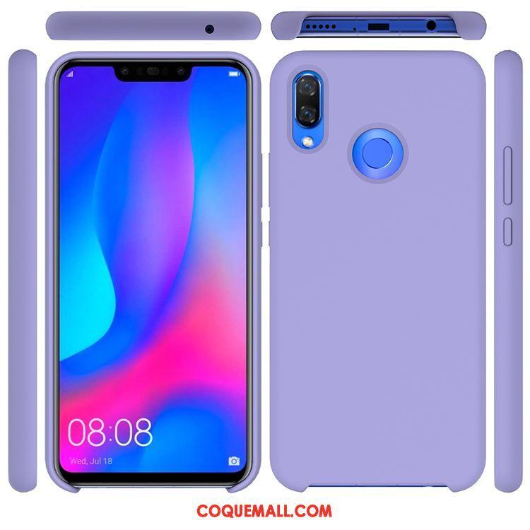 Étui Huawei P Smart 2019 Téléphone Portable Violet Silicone, Coque Huawei P Smart 2019 Jeunesse Couleur Unie