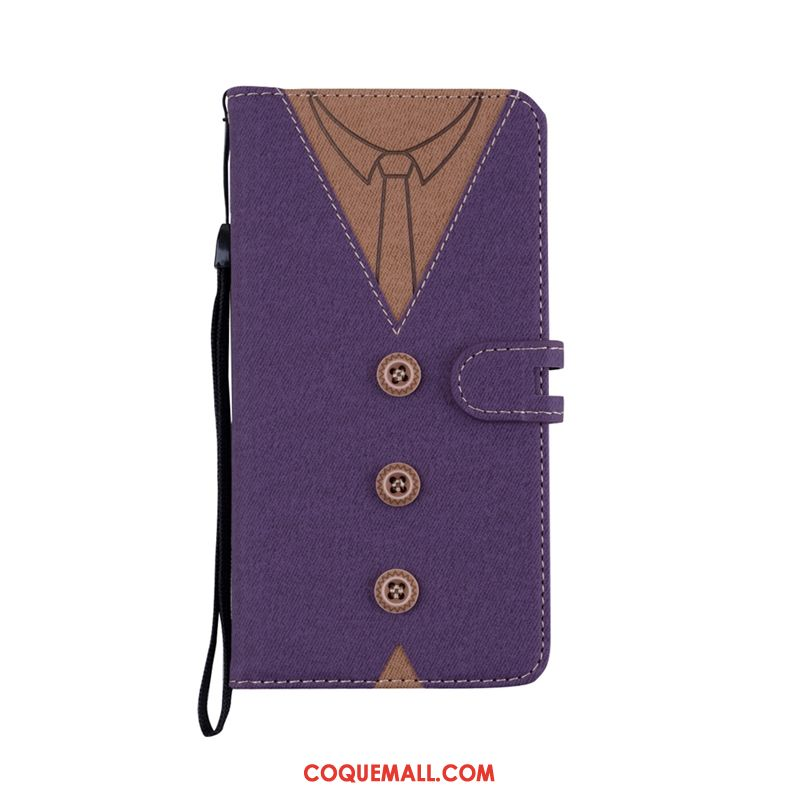 Étui Huawei P Smart Portefeuille Étui En Cuir Protection, Coque Huawei P Smart Violet Support