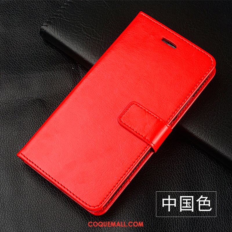 Étui Huawei P Smart Silicone Cuir Incassable, Coque Huawei P Smart Jeunesse Rouge
