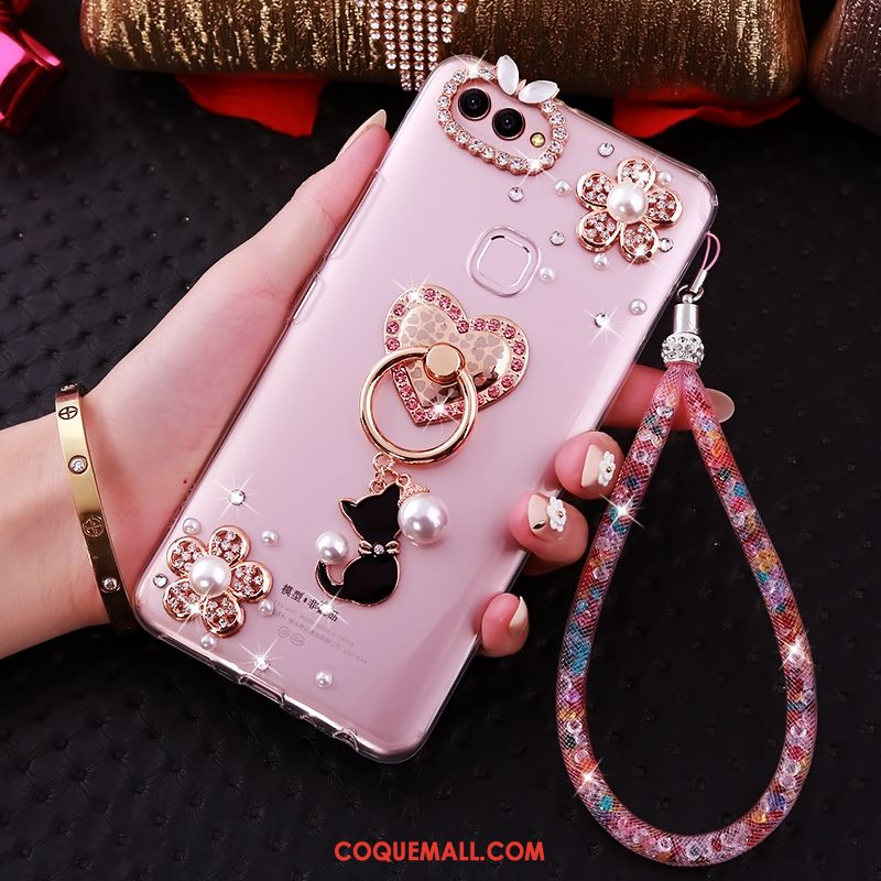 Étui Huawei P Smart Strass Fluide Doux Protection, Coque Huawei P Smart Transparent Téléphone Portable