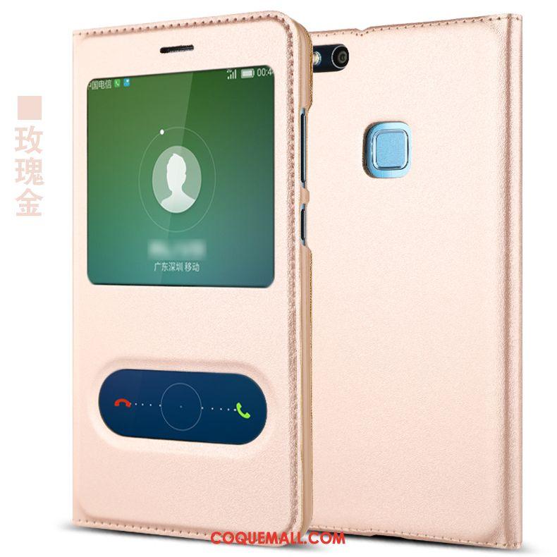Étui Huawei P10 Lite Tout Compris Jeunesse Personnalité, Coque Huawei P10 Lite Ouvrir La Fenêtre Rose
