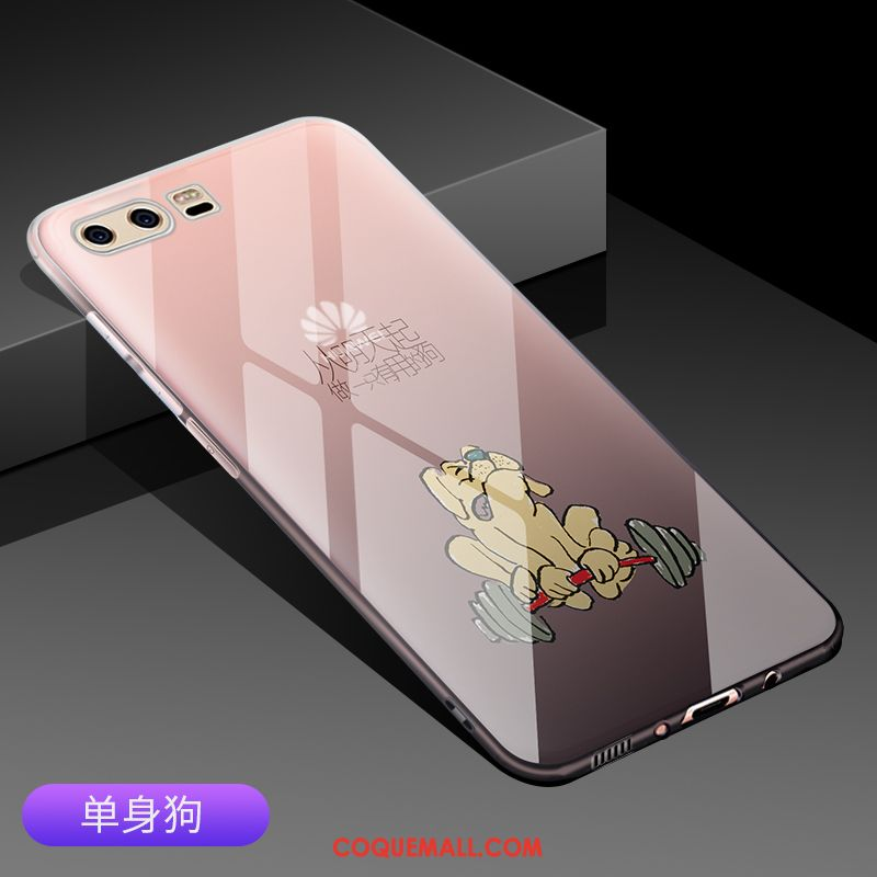 Étui Huawei P10 Plus Très Mince Net Rouge Incassable, Coque Huawei P10 Plus Téléphone Portable Gris
