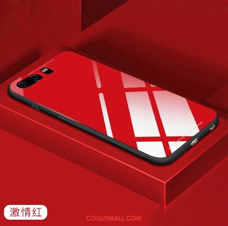 Étui Huawei P10 Rouge Pu Téléphone Portable, Coque Huawei P10 Blanc Verre
