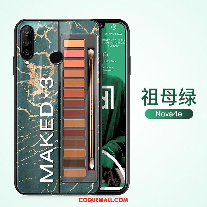 Étui Huawei P30 Lite Créatif Mode Protection, Coque Huawei P30 Lite Marque De Tendance Vert