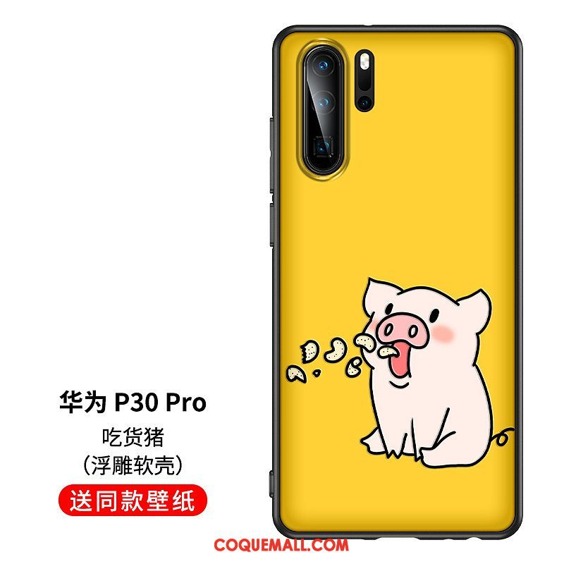 Etui Huawei P30 Pro Jaune Personnalite Dessin Anime Coque Huawei P30 Pro Creatif Protection Soldes