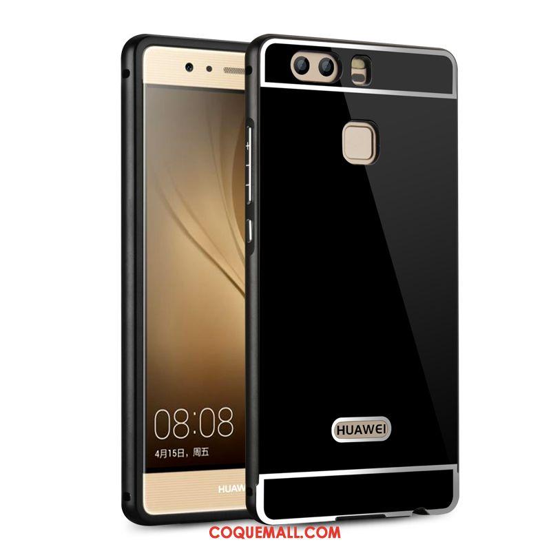 Étui Huawei P9 Plus Border Difficile Métal, Coque Huawei P9 Plus Incassable Noir