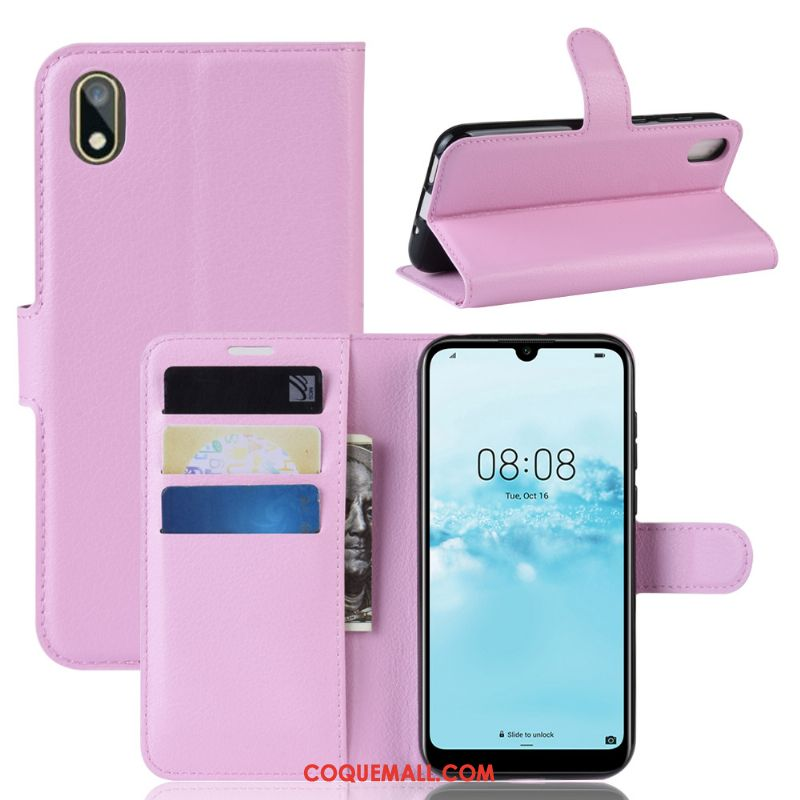 Étui Huawei Y5 2019 Incassable Rouge Support, Coque Huawei Y5 2019 Rose Protection