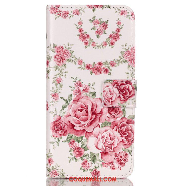 Étui Huawei Y6 2018 Fleur Peinture Étui En Cuir, Coque Huawei Y6 2018 Fluide Doux Pissenlit