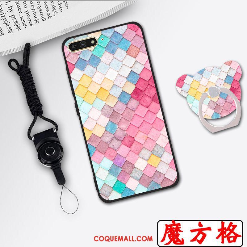 Étui Huawei Y6 2018 Haute Rose Téléphone Portable, Coque Huawei Y6 2018 Protection