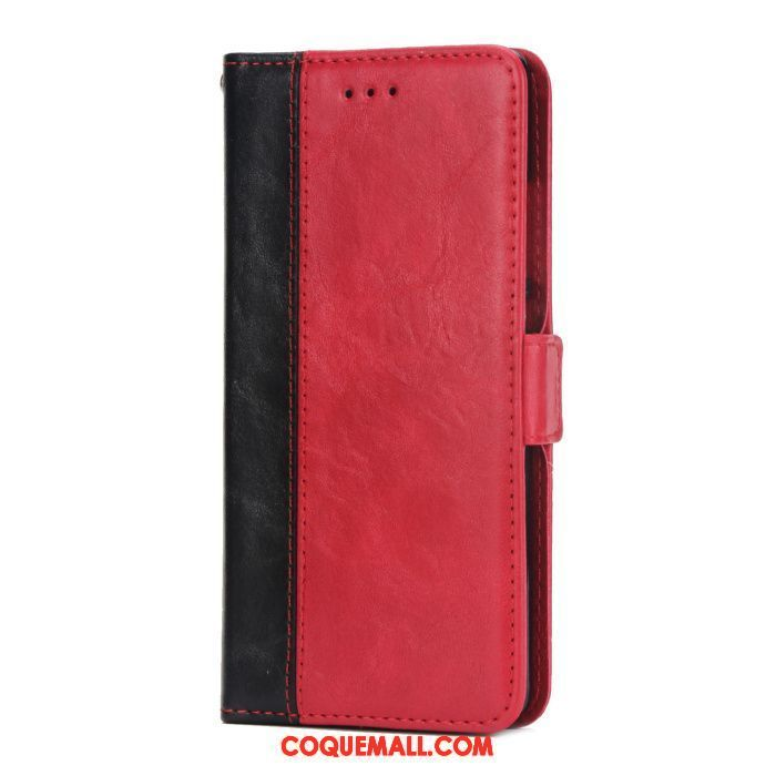 Étui Huawei Y6 Pro 2017 Business Protection Étui En Cuir, Coque Huawei Y6 Pro 2017 Rouge Clamshell