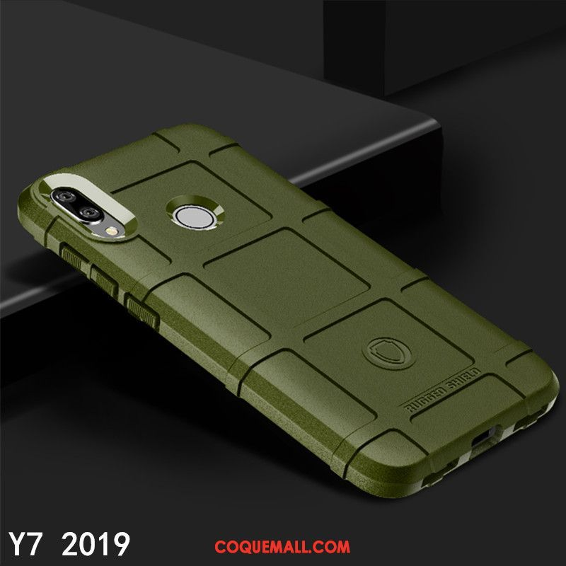 Étui Huawei Y7 2019 Trois Défenses Protection Personnalité, Coque Huawei Y7 2019 Téléphone Portable Tout Compris