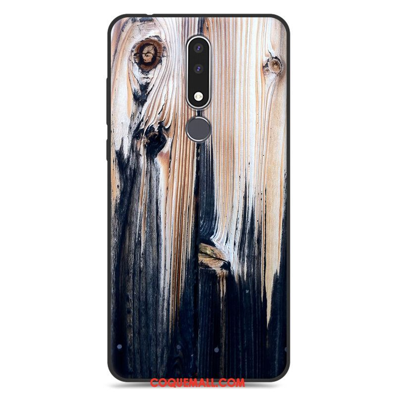 Étui Nokia 3.1 Plus Simple Incassable Peinture, Coque Nokia 3.1 Plus Ornements Suspendus Fluide Doux