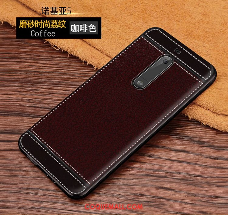Étui Nokia 5 Membrane Fluide Doux Marron, Coque Nokia 5 Protection Incassable