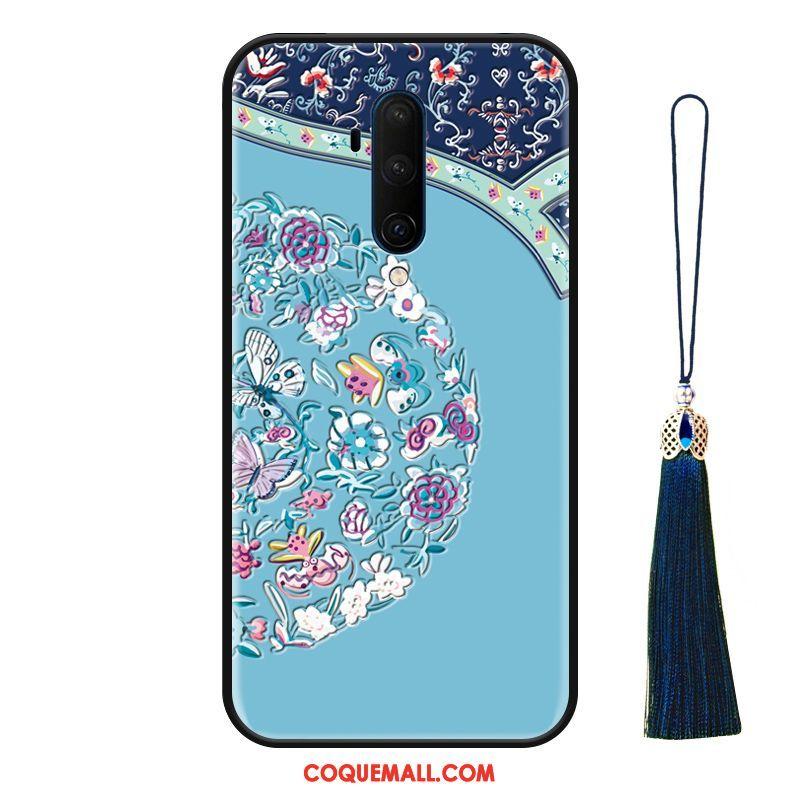 Étui Oneplus 7t Pro Silicone Luxe Protection, Coque Oneplus 7t Pro À Franges Bleu