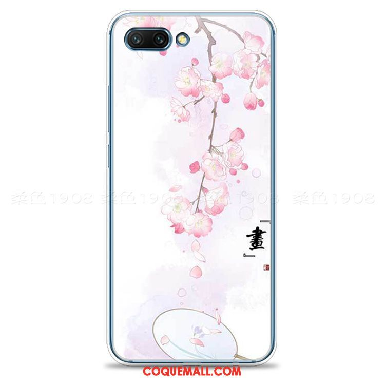 Étui Oppo A3s Frais Style Chinois Silicone, Coque Oppo A3s Rose Petit