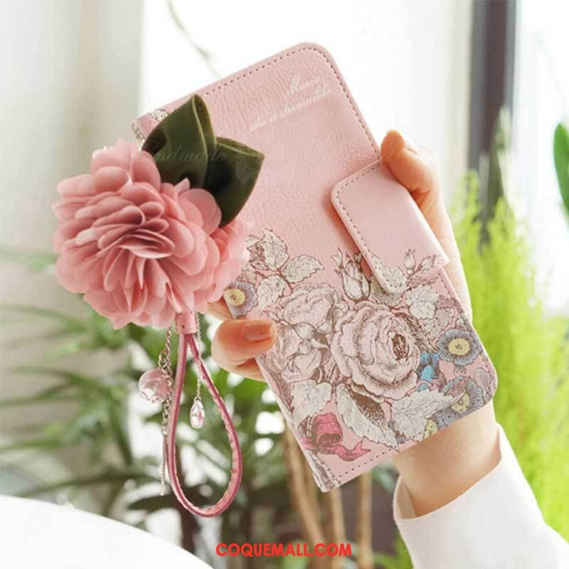 Étui Oppo F5 Youth Clamshell Mode Charmant, Coque Oppo F5 Youth Rose Étui En Cuir