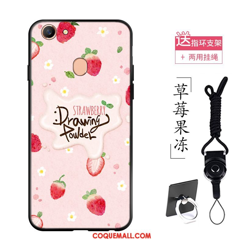 Étui Oppo F5 Youth Fluide Doux Protection Fleurs, Coque Oppo F5 Youth Paysage Simple