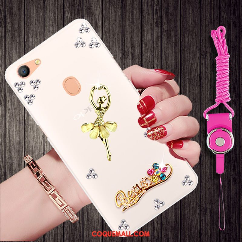 Étui Oppo F5 Youth Fluide Doux Protection Ornements Suspendus, Coque Oppo F5 Youth Strass Tendance